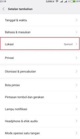 Menghilangkan Iklan di HP Xiaomi dengan merubah lokasi