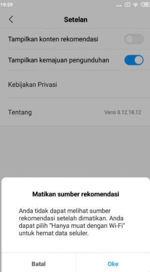 Menghilangkan Iklan di HP Xiaomi di Aplikasi Unduhan