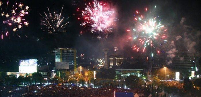tahun baru di Balai Kota Malang