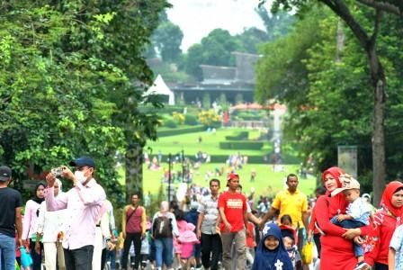 tahun baru di Kebun Raya Bogor