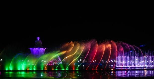 tahun baru di Taman Air Mancur